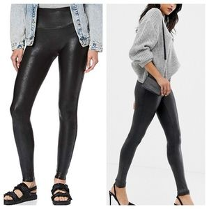 SPANX Black Faux Leather High Waist Leggings